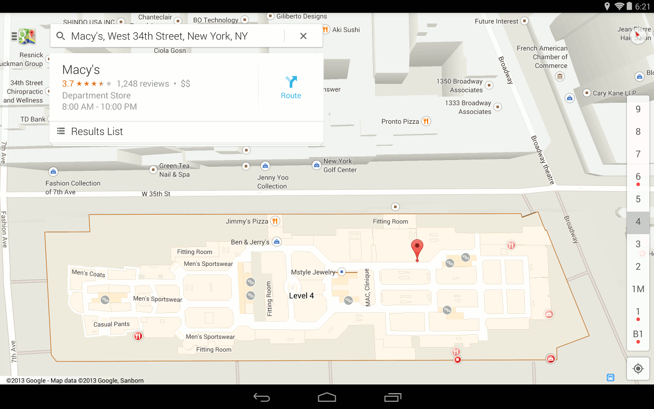 google maps and now